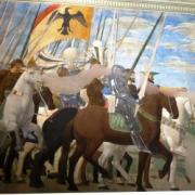 Arezzo P. Delle Francesca, Victoire de Constantin sur le pont Milvius