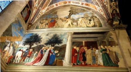 P Della Francesca La Reine de Saba rend visite à Salomon, Arezzo